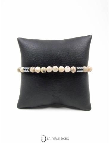 Bracelet en opale 6mm, Collection Messager Homme