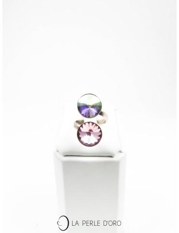 Bague Toi et Moi en cristal de Swarovski