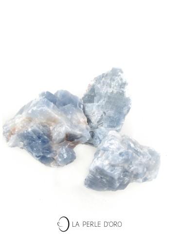 Calcite bleue, Morceau brut...