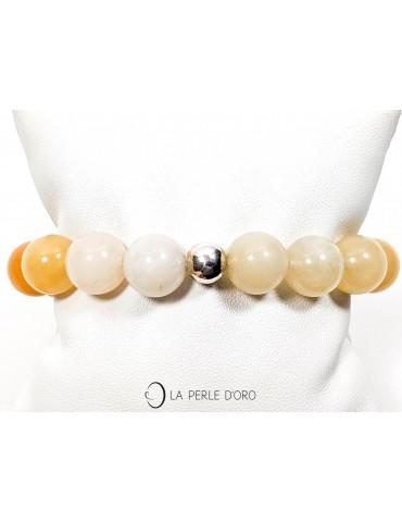 Cornaline mélangée 12mm, Bracelet Collection Homme et Femme