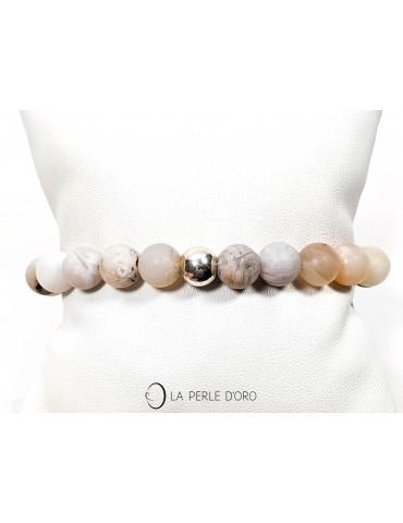 Bracelet en opale mate, 8mm
