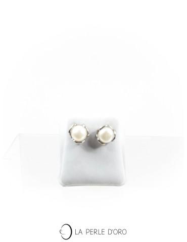 Boucles d'oreilles en perles des Mers du Sud