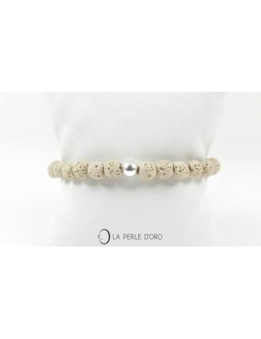 Bracelet Pierre ponce beige...