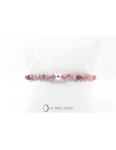 Tourmaline rose 4mm, perles...