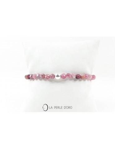"""Tourmaline rose, Bracelet 4mm, collection """"Les délicats"""""""