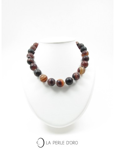 Agate and Bohemian crystal,...