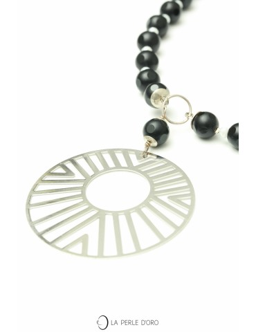 Long Necklace, Onyx,...