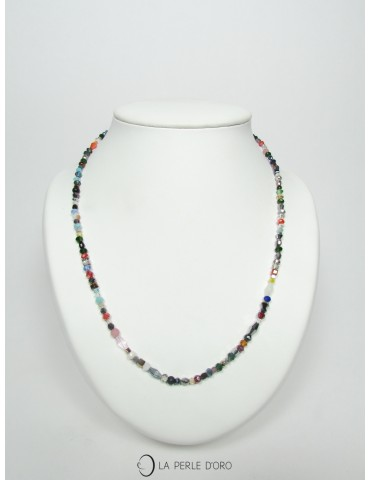 Collier en cristal multicolore