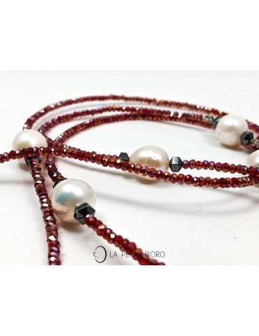 Perles naturelles blanches,...