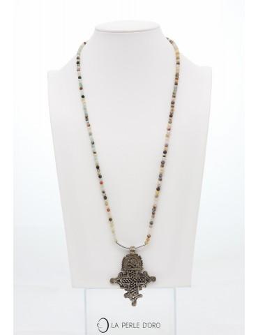 Amazonite et croix Berbère,...