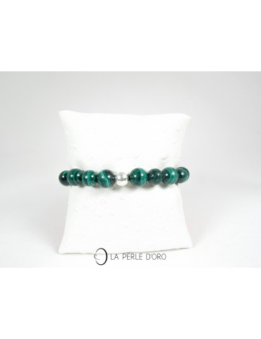 Malachite, bracelet 10 mm