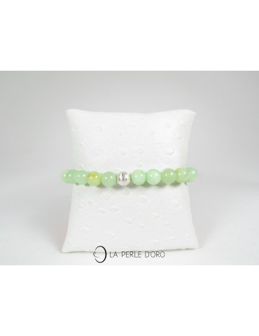 Quartz vert 8mm, Bracelet...