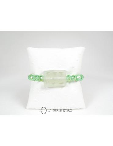 Bracelet en Jade vert et...