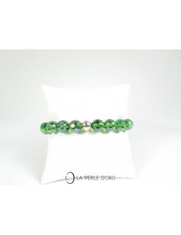 Cristal de Bohème vert,...