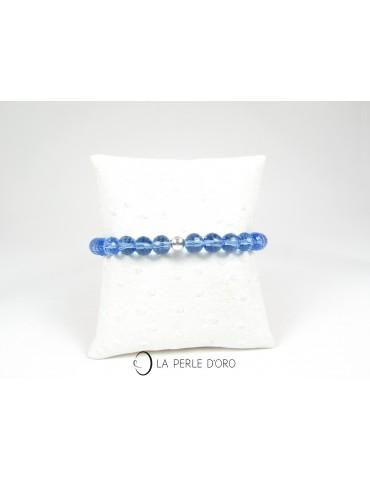Cristal de Bohème bleu,...