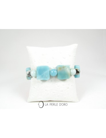 Amazonite, Bracelet 10mm et...