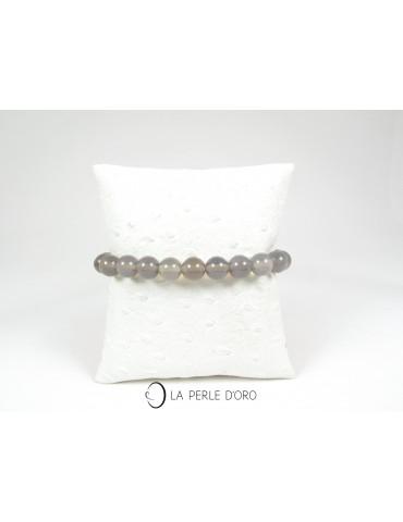 Agate grise, Bracelet 8 mm