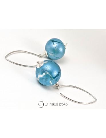 Murano glass silver earrings