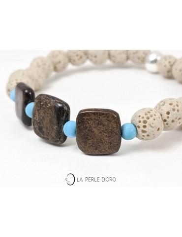 Bronzite, pierre ponce et...