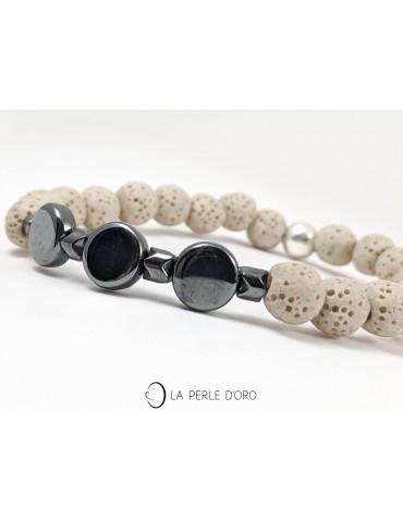 Hematite bracelet, Graphic...