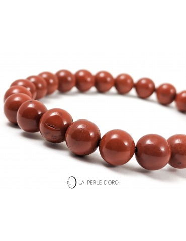 Jaspe rouge, bracelet 8mm,...