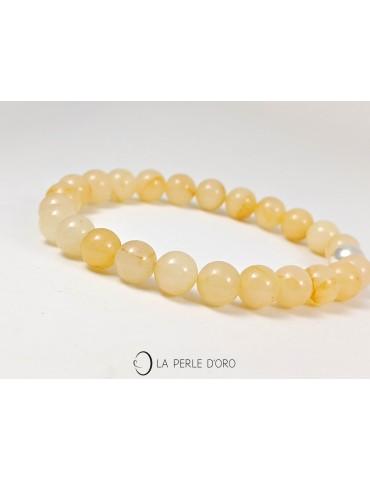 Calcite jaune 8mm, Bracelet...