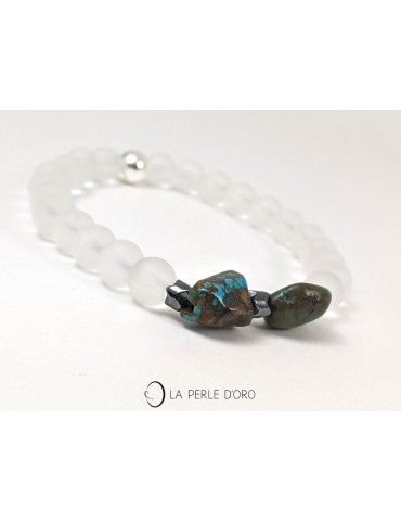 Rock crystal and Turquoise...